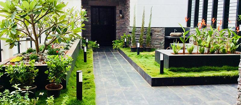 Terrace garden construction
