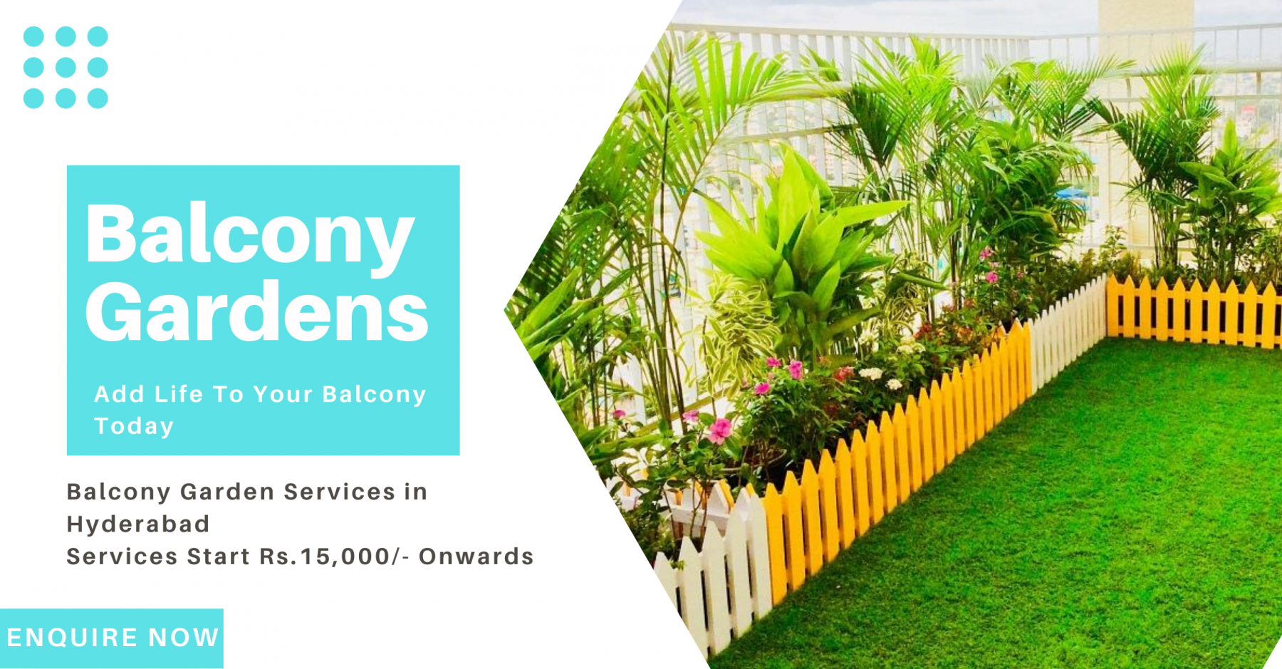 Balcony Garden in hyderabad