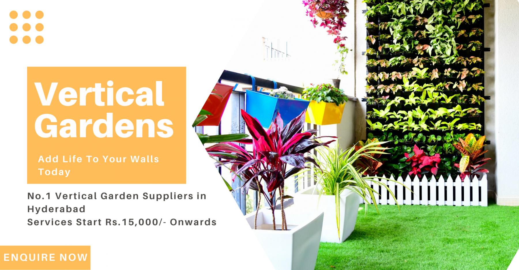 Vertical gardens in hyderabad